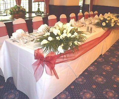 Wedding Top Table, Buffet & Cake Table Decor Kit  - Bows & Swags - CHOOSE COLOUR • 14.99£
