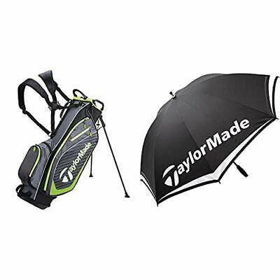 TaylorMade Pro Stand 6.0 Golf Bag, Charcoal & Single Canopy 60 Inch Umbrella • 187.99£