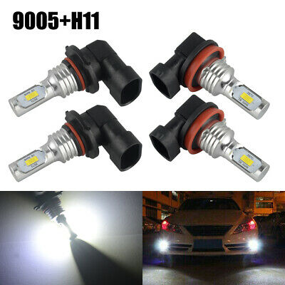 AU21.83 • Buy 4 Pc 9005+H11 Combo LED Headlight Conversion Bulbs High Low Beam Fog Light 6000K
