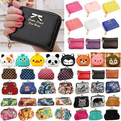 Small Mini Change Coin Purse Wallet Pouch Credit ID Card Holder Clutch Handbag • 2.94£