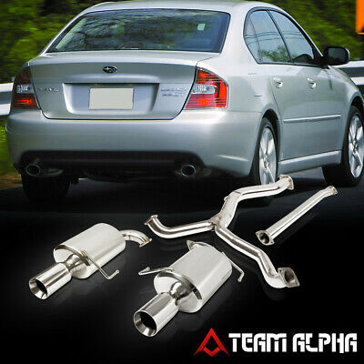 $283.89 • Buy Fits 2005-2009 Legacy 2.5 Turbo [4  BEVELED TIP DUAL MUFFLER] SS Catback Exhaust