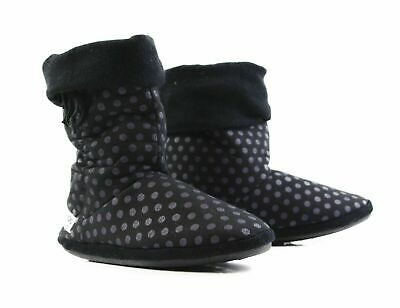 £21.67 • Buy Womens Grosby Hoodies BOOTS Spotted Slouch Black Purple Slippers - Size S M L XL