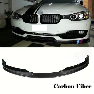 AU521.55 • Buy Fit For BMW 3Series F30 F80 320i 328i 335i Front Bumper Lip Spoiler Carbon Fiber