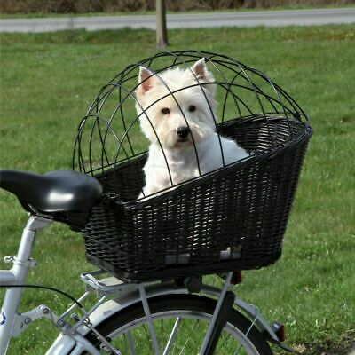 £44.29 • Buy Rear Mounted Bicycle Rack Travel Cycling Basket Dog Cat Bike Carrier Wicker NEW!