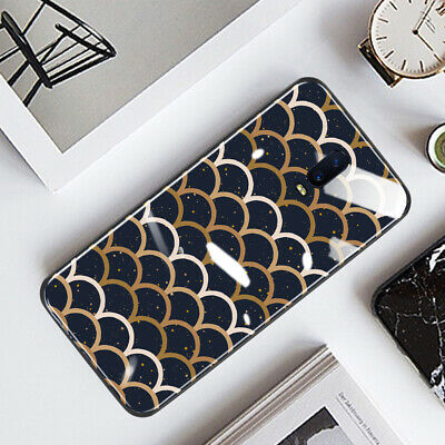 AU16.50 • Buy OPPO A73/AX5/A57/R17 Pro Case Cover Fashion Rippled Style Glossy Glass Shell