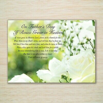 £3.25 • Buy Father's Day Memorial Card Dad Grandad Father - Fully Waterproof Eco A5 Freepost