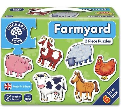 £7.50 • Buy Orchard Toys FARMYARD Animals Jigsaw Puzzle Baby Toddler Child Educational 18m+