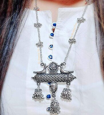 £8.99 • Buy ASIAN Silver Oxidised Ethnic Tribal Costume NECKLACE JEWELLERY