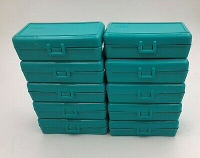 AU36.18 • Buy Plastic Ammo Box (Lot Of 10) 50 Round, 380 / 9mm, TEAL, Made In USA, SP-50