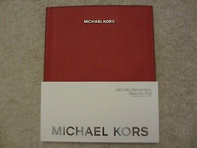 £42.49 • Buy 🔥 $80 NEW MK Michael Kors Red Saffiano Leather Sleeve Case For Apple IPad 🔥