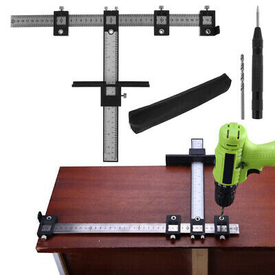 £14.59 • Buy Adjustable Punch Locator Drill Guide Sleeve Cabinet Hardware Jig Drawer Pull Kit