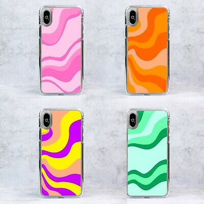 £6.99 • Buy Plastic 70's Retro Groovy Lines Waves Phone Case/Cover For IPhone Samsung Google