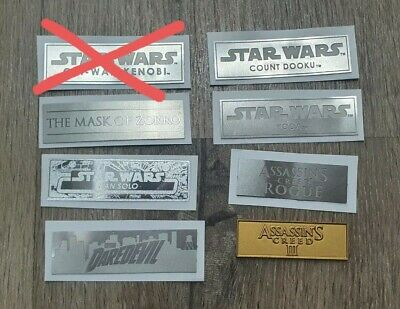 $ CDN8.83 • Buy 1/6 Scale Hot Toys 1x Plaque Nameplate Star Wars Stand Base Diorama