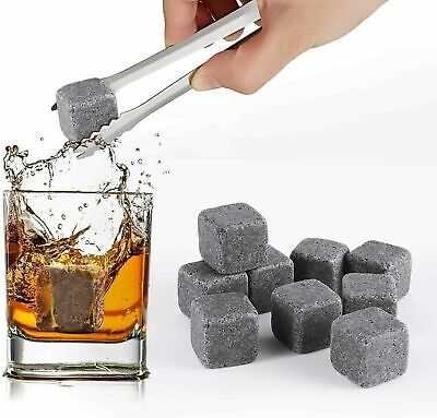 £4.49 • Buy 9 Pcs Whisky Rocks Ice Stones Drinks Cooler Cubes Whiskey Granite Scotch & Pouch