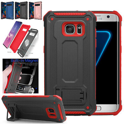 AU7.99 • Buy For Samsung Galaxy S10+ S7 Edge Rugged Shockproof Stand Case Armor Cover