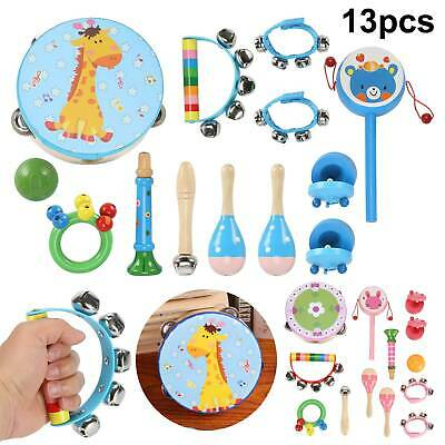 £12.59 • Buy 13pcs Wooden Musical Instruments Toys Children Toddlers Percussion For Kids Baby