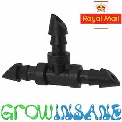 £3.39 • Buy Micro Tee 4mm Connector Barbed. Garden Irrigation Fits Hozelock Antelco 4mm Pipe