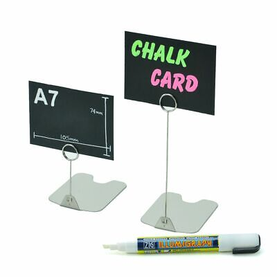 £34.10 • Buy Stainless Steel Ticket Stand Food Counter Display Price Card Holder Butchers