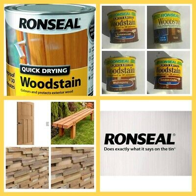 £11.49 • Buy RONSEAL Quick Drying Woodstain Satin Gloss 250ml Pre Loved For Garden Stain Wood