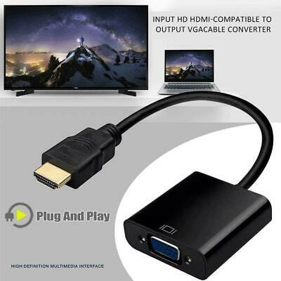 $ CDN3.73 • Buy HDMI Male To VGA Female Video Cable Cord Converter Adapter For PC Monitor T1Y5