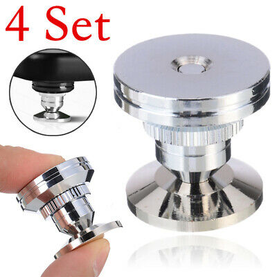 £16.29 • Buy 4 Set Stainless Steel Speaker Spike+Pad Base Amplifier Isolation Cone Stand Feet