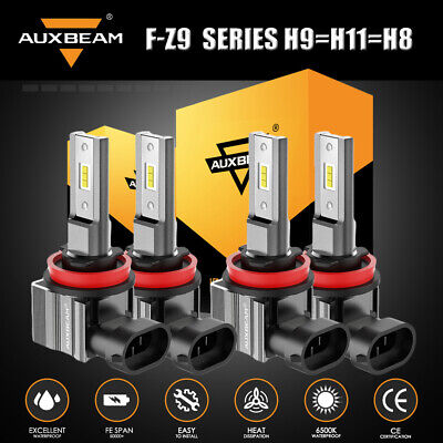 $79.98 • Buy 4X AUXBEAM Z9 H9+H11 LED Headlight Motorcycle For Kawasaki ZX-10R ZX-14R ZX-6R