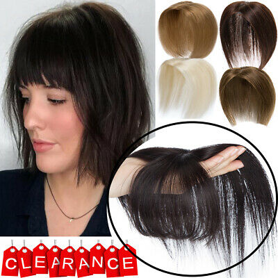 £33.48 • Buy Uk Remy Hair Toupee Hairpiece Clip In Human Hair Top Wig Topper Natural Hairline