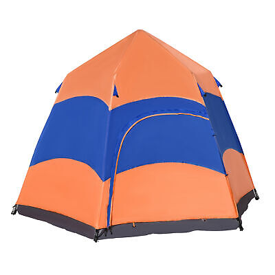 Outsunny 6 Person Pop Up Tent Camping Festival Hiking Shelter Family Portable • 99.99£