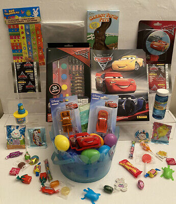 £29.08 • Buy 43PC Lightning McQueen Cars Easter Basket Tater Tow Truck Night Light Eggs Candy