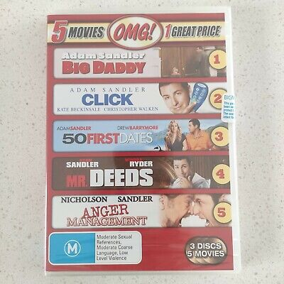 AU17.95 • Buy NEW Seal - Big Daddy • Click • 50 First Dates • Mr. Deeds • Anger Management DVD