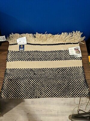 $20.99 • Buy Hearth And Hand Magnolia Handwoven Accent Rug Black Stripe 24  X 36