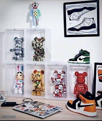 $59.99 • Buy 400% Bearbrick Plastic Stackable Display Case With Magnetic Front Cover