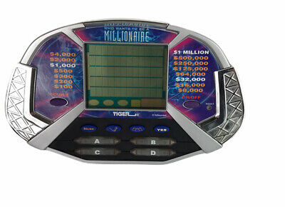 £11.36 • Buy Tiger Who Wants To Be A Millionaire Electronic Game Handheld 2000 With Cartridge