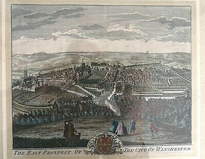 £69 • Buy East Prospect Of The City Of Winchester By Buck 18th Century Coloured Engraving