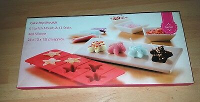 £1.51 • Buy Cake Pop Mould, Red Silicone/PP Sticks, 6 Starfish Moulds/12 Sticks