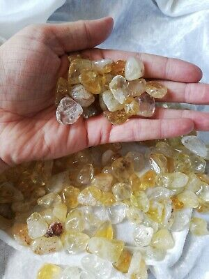 £1 • Buy Citrine Tumbles. Natural And Stunning 2 X Tumbles Per Purchase