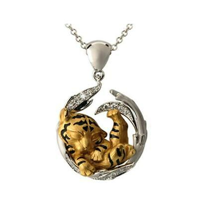 AU3.09 • Buy Animal Tiger Pendant Necklaces For Women Natural Animal Jewelry Charm K3V7