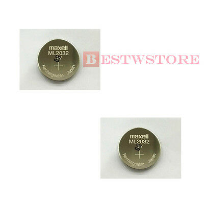 AU8.22 • Buy NEW 2 X MAXELL ML 2032 ML2032 RECHARGEABLE 3V Button Coin Cell CMOS BATTERY