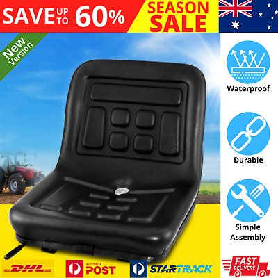 AU96.72 • Buy Tractor Seat Chair Forklift Excavator Mower Bulldozer Universal Replacement NEW
