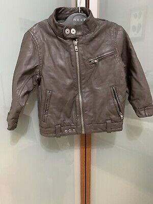 £6 • Buy NEXT Baby Boy's Faux Leather Jacket - Dark Brown - 18 To 24 Months - LOVELY