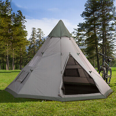Outsunny 6-7 Person Large Family Party Camping Tent W/ Carrying Bag, Mesh Window • 144.99£