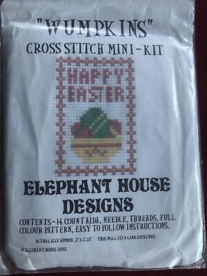 Cross Stitch Mini Kit By Wumpkins Happy Easter • 2.75£