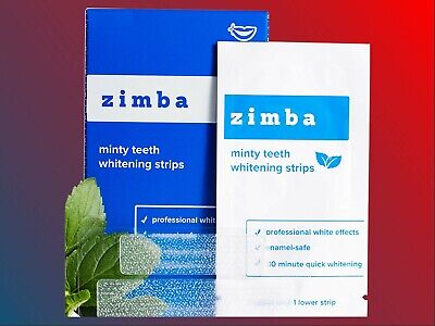 AU28.08 • Buy Zimba Professional Teeth Whitening Strips - 28 Strips, 14 Treatments. Mint Flavr