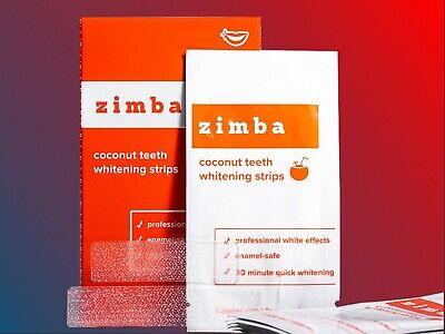 AU28.08 • Buy  ZIMBA Teeth Whitening Strips Coconut Zimba Whitening Strips - 14 Treatments!