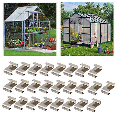 £3.92 • Buy 25pcs Glass Clips Greenhouse Glass Window Z Shaped Overlapping Fixing Clips,