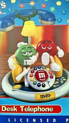 $74.49 • Buy  Vintage M&M's --Desk Telephone  With Red & Green Characters NIB--FREE Ship !!