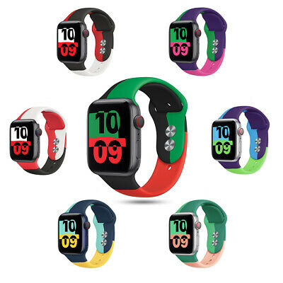 $ CDN6.03 • Buy 40/44mm Colorful Silicone Sport Band Strap For Apple Watch 6 5 4 3 2 1 IWatch SE