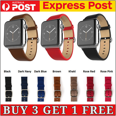 AU10.95 • Buy Leather Strap IWatch Band For Apple Watch Series 6 5 4 3 2 1 SE  38mm 40 42 44mm