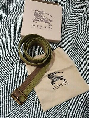 £31 • Buy Burberry Green Casual  Canvas Belt Size 62 -83 Cm EXCELLENT