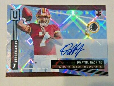 $ CDN60.72 • Buy Panini Dwayne Haskins 2019 Rookie 214 Auto Signed Autograph Unparalleled Redskin